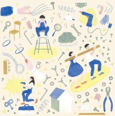 yu-fukagawa: CYAN 2014 AUTUMN|缶詰と体操|挿絵 ねじ