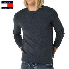Pull Tommy Hilfiger Denim Ethan gris anthracite pour homme