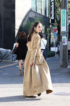 Street Style of Harajuku, Tokyo: Dressed in DRIES VAN NOTEN coat | More photo at Fashionsnap.com