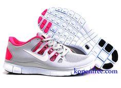 Goedkoop Schoenen Nike Free 5.0 + Dames (kleur:vamp-grijs;binnen-rood;logo en zool-wit) Online Winkel.