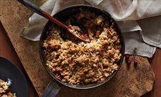 Autumn Kinfolk Feast: Pear, Apple, and Ginger Crumble with Cinnamon Ice Cream