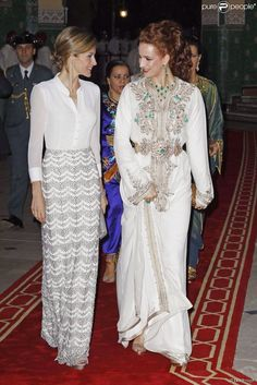 Moroccan elegance! Lalla Salma and queen Leticia of Spain
