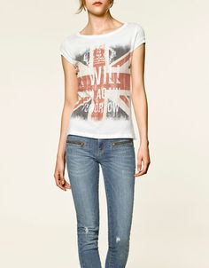 Printed ('I will try again tomorrow') T-shirt (ZARA)