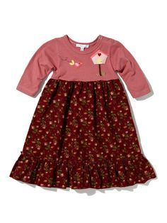 Embroidered Empire Dress by Victoria Kids