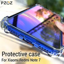 PZOZ For Xiaomi Redmi Note 7 Pro Phone Protective Case Redmi Shockproof Silicone Clear TPU Soft Transparent Shell Cover Silicone Phone Case, Clear Silicone, Marble Case, Note 7, Ring Stand, Leather Phone Case, Car Holder, Brand Store, Phone Covers