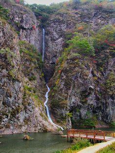 A waterfall in Gangcheonsan Provincial Park, South Korea