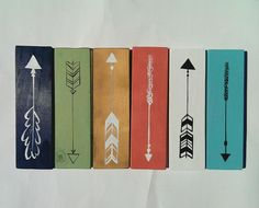 Hand Painted Arrows by LilRedBrickHouse on Etsy coral teal turquoise white black gold navy mint green nursery caden lane