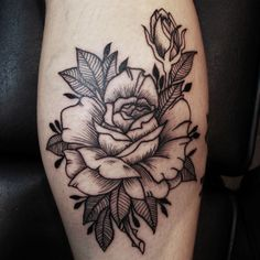Tattoo of a Rose done for my friend Lolo