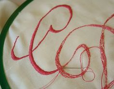 Tuppence Hapenny: {Embroidery Week} How to Monogram