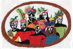 Sarah/TotallySevere - Star Trek embroidery - Characters from Star Trek wearing fruit hats, A LA Carmen Miranda - would have been awesome...