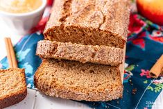 Applesauce Bread is a simple and spicy quick bread is made with applesauce, sugar and warm spices and will have your house smelling like fall! Applesauce Bread, Recipe Using Applesauce, How To Make Applesauce, Fresh Bread, Sweet Bread, Pineapple Coconut Bread, Easy Biscuit Recipe, Apple Fritter Bread, Baking Soda Baking Powder