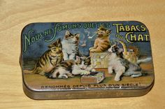 Cat tobacco tin.