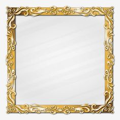 Golden classic ornament picture frame border glass effect PNG and Vector Azul Vintage, Picture Banner, Framed Leaves, Button Frames, Serpentina, Egypt Art, Christmas Frames, Background Patterns, Red Background
