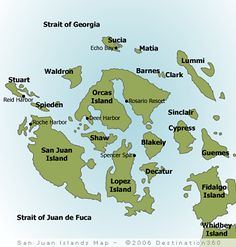San Juan Islands, Washington. Someday I'll visit each and every one!