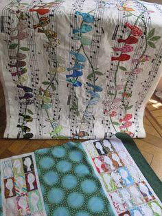 Patchwork & Cía: quilts en proceso. Leuke quilt! Die zou ik wel willen maken, is niet moeilijk. Op website stap voor stap foto's.