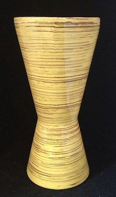 McCoy Pottery Vtg Yellow Brown Harmony Vase 1960's Mid Century Modern Atomic Mod   eBay