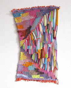 """Jaws - weaving by Alicia Scardetta 13x8"""" 2013 #fiber_art #woven"""