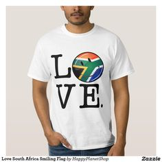 Love South Africa Smiling Flag T-shirt