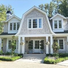 192 Likes, 5 Comments - Andy Friesen Dutch Colonial Exterior, Dutch Colonial Homes, Style At Home, Nantucket Style Homes, Shingle Style Homes, Gambrel Roof, Exterior Remodel, Dream House Exterior, House Roof