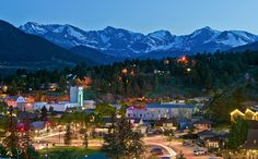 Estes Park, #Colorado ranked second on the list for its active people and its charming town square, Bond Park, surrounded by boutiques and sweet shops.