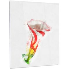 """DesignArt Floral 'Colorful Bell Flower Watercolor' Graphic Art on Metal Size: 48"""" H x 30"""" W x 1"""" D"""
