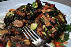Spicy Enchilada Stuffed Portabella Mushrooms: It's What's For Breakfast