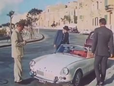 """This is the 1963 mk1 Triumph Spitfire 4 driven by Mark Burns as undercover agent Dennis Parbury from 1966 film """" Death is a woman""""."""