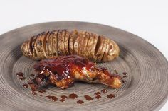 Homemade BBQ Chicken and Hasselback Potatoes