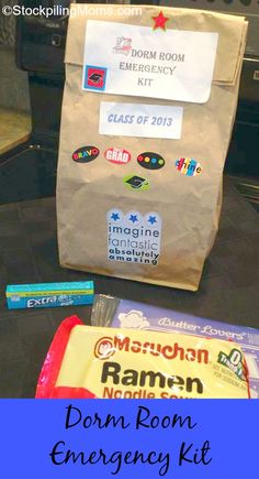Dorm Room Emergency Kit -- gotta do this for my niece who's graduating next month!