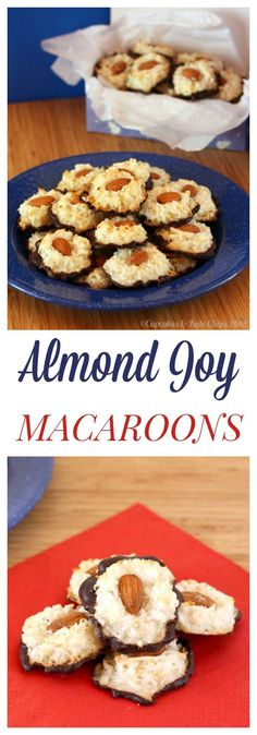 Almond Joy Macaroons - only four ingredients in these easy (and gluten free) cookies! Great for Passover! | cupcakesandkalechips.com