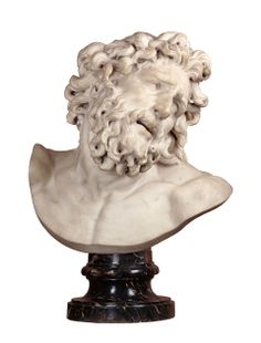 Head of Laocoön after the original Rhodos sculpture of c. 25 B.C. Italy early 17th Cent. (in the Rockox House Museum)