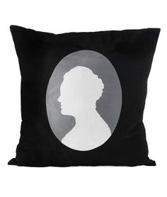 I must be gifted (or gift) this custom silhouette pillow.
