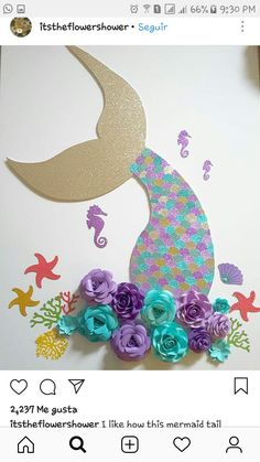 Mermaid Theme Birthday, Little Mermaid Birthday, Little Mermaid Parties, The Little Mermaid, Girl Birthday, Mermaid Party Decorations, Birthday Party Decorations, Birthday Parties, Decoration Creche