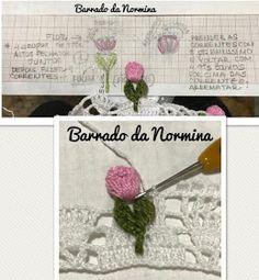 beside crochet: حواف كروشية مع ورود.Crochet lace with roses Crochet Flowers, Crochet Lace, Crochet Edgings, Chrochet, Projects To Try, Hair Accessories, Baby Shower, Knitting, Rose