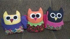 Almofadas, corujas, controle remoto, patchwork, owls, pad