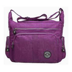 5d31e74c3f52 Women Multilayer Zipper Pockets Light Messenger Bags Shoulder Bags Outdoor Waterproof  Crossbody Bags   Price