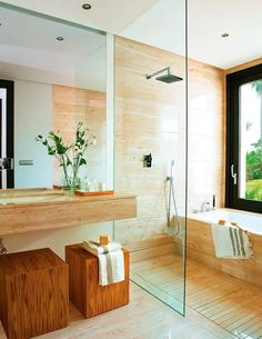 10 Ways To Pull Off Beautiful Design In A Small Bathroom Bathroom Design Small bathroom decoration is an expression of preference for a design. When one is looking for something like a small bathroom decoration, it may invo. Wet Room Bathroom, Simple Bathroom, Modern Bathroom, Master Bathroom, Bath Room, Natural Bathroom, Wood Bathroom, Wet Rooms, Toilette Design