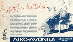 Eikö houkuttele? - Askon vanha lehtimainos vuodelta 1935