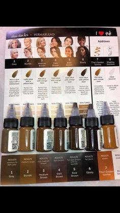 Perma Blend Permanent Makeup Pigments - Brought to you by World Famous Tattoo Ink World Famous Tattoo Ink, Famous Tattoos, Permanent Makeup Eyebrows, Eyebrow Makeup, Brow Color, Ink Color, How To Color Eyebrows, Best Salon, Microblading Eyebrows