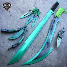 I guess I'd only be getting the throwing knives and the pocket knife for Rein. T… – knives Zombie Weapons, Ninja Weapons, Anime Weapons, Fantasy Weapons, Weapons Guns, Pretty Knives, Cool Knives, Swords And Daggers, Knives And Swords