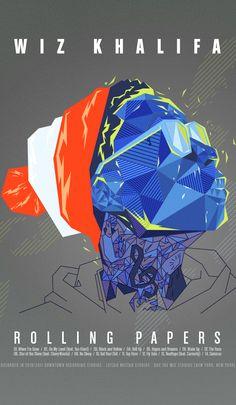 Wiz Khalifa Album Artwork by Noem9 Studio, via Behance