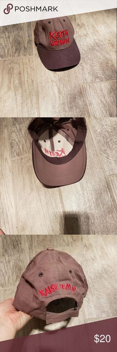 Tan and red Keith Urban Cap Concert Keith Urban hat. Great condition! Keith Urban Accessories Hats