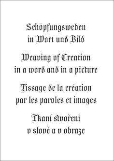 Návrhy a úvahy s využitím písma Wittingau