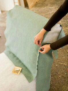 Common Upholstery Techniques What You Need to Know to Reupholster Furniture is part of Upholstery diy - If you have basic sewing skills, you can master these common upholstering techniques Sewing Basics, Sewing Hacks, Sewing Projects, Diy Projects, Basic Sewing, Woodworking Projects, Sewing Tips, Furniture Projects, Furniture Makeover