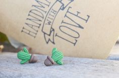 Handmade cactus, cactus earrings, handmade earrings, fimo jewelry, fimo cactus, love cactus, succulents earrings - now available at MichaelaCraft - see below my etsy store  https://www.etsy.com/ca/listing/513594897/tiny-cactus-earrings-potted-cactus-stud