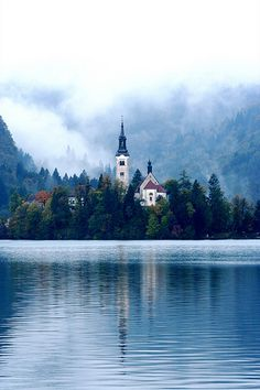 Lake bled, Slovenia, places to see before you die. Places Around The World, Oh The Places You'll Go, Places To Travel, Places To Visit, Around The Worlds, Travel Destinations, Wonderful Places, Beautiful Places, Amazing Places
