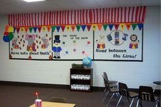 small bulletin board for classroom - Circus Palz - ScrappyDew