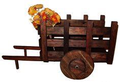 carretas de madera para centros de mesa - Buscar con Google