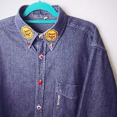 e40741b3 Denim Hip Length Collared Tops & Shirts Size Plus for Women | eBay