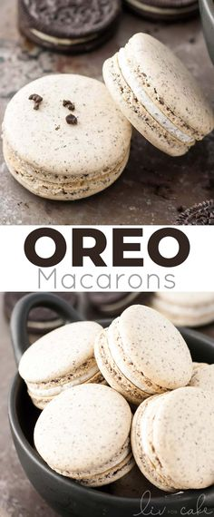 INGREDIENTS Macaron Shells: 100 g almond flour 30 g Oreo cookie crumbs approx. 4 cookies with filling removed 130 g Oreo Macarons Recipe - Oreo Macarons Recipe – Girls Dishes Macaroon Cookies, Oreo Macarons, Macarons Easy, Macarons Chocolate, Chocolate Chips, Baking Recipes, Cookie Recipes, Dessert Recipes, Cupcake Recipes